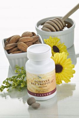 Forever Bee Propolis. Propolis is the protective substance gathered and used by bees to disinfect and protect their hives. Forever Bee Propolis is gathered from pollution-free regions to assure purity. It is 100% natural with no added preservatives or artificial colours.