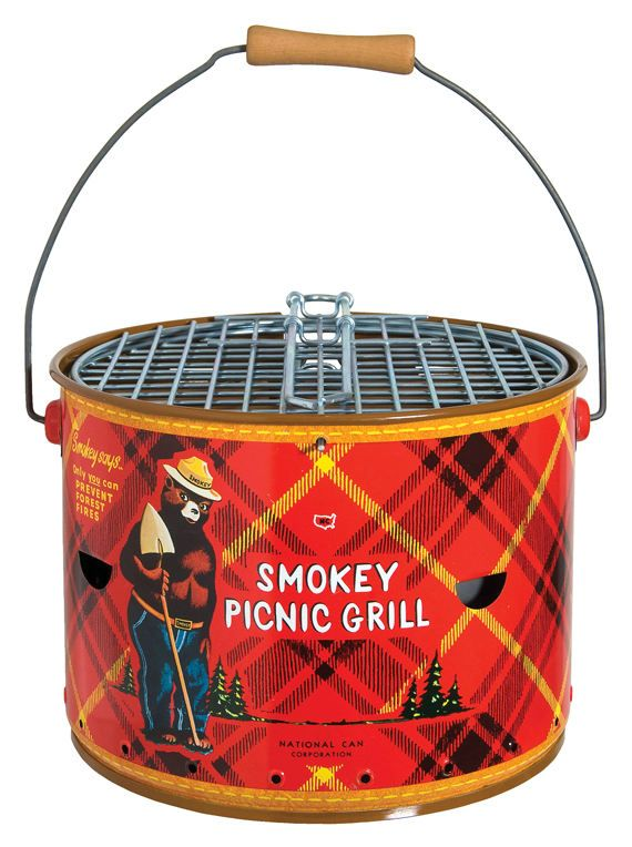 Vintage Smokey the Bear Picnic Grill.