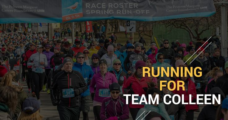 Running for Team Colleen at the Race Roster Spring Run-Off - Canada Running Series