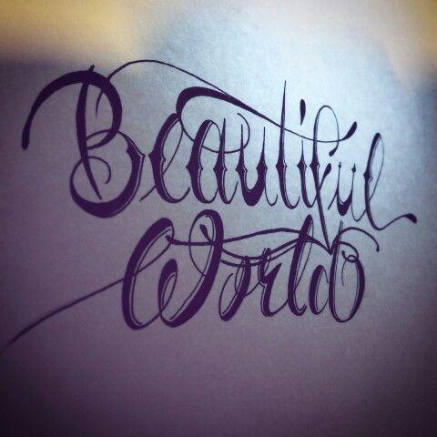 #BeautifulWorld#letters #letteting #instaletters #instalettering #sketch #disegno #scritta #mot #anglais #letterstattoo #tattooletters #tattoolettering #handwork #black #noir  DevTattooConseils  Following me in instagram,pinterest and Twitter   T@g your friend