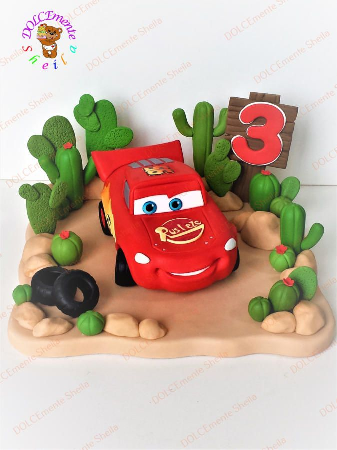 Cars cake designed to perfection
