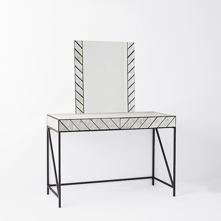 Herringbone Mirrored Vanity.