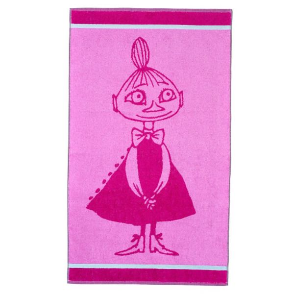 Made for everyday moments. This bright, pink-colored Mymble towel lights up your day, combine it with colors and designs of your choosing. The Moomin-towels are inspired by Tove Jansson's original drawings and are authentic ©Moomin Characters™ licensed products.