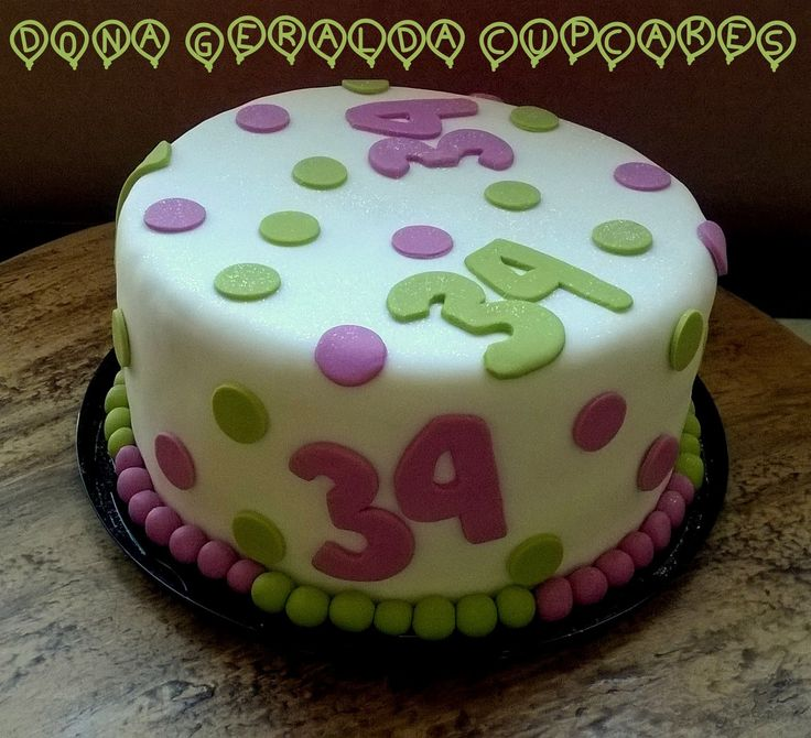 Bolo verde e rosa #cakegreenandpink