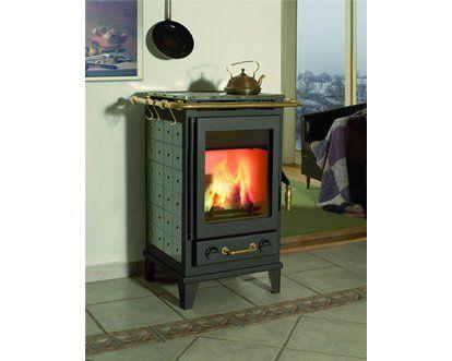 7 kW Wärmeleistung • Verkleidung aus: Keramik • Mit Kochplatte ✓ Fireplace Kaminofen Florenz Keramik Grün ➜ Kaminöfen bei OBI kaufen und bestellen