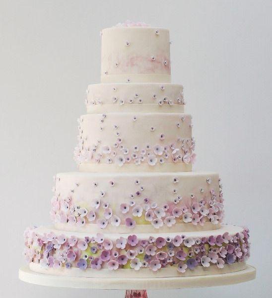 Pretty Floral Monet Garden Cake