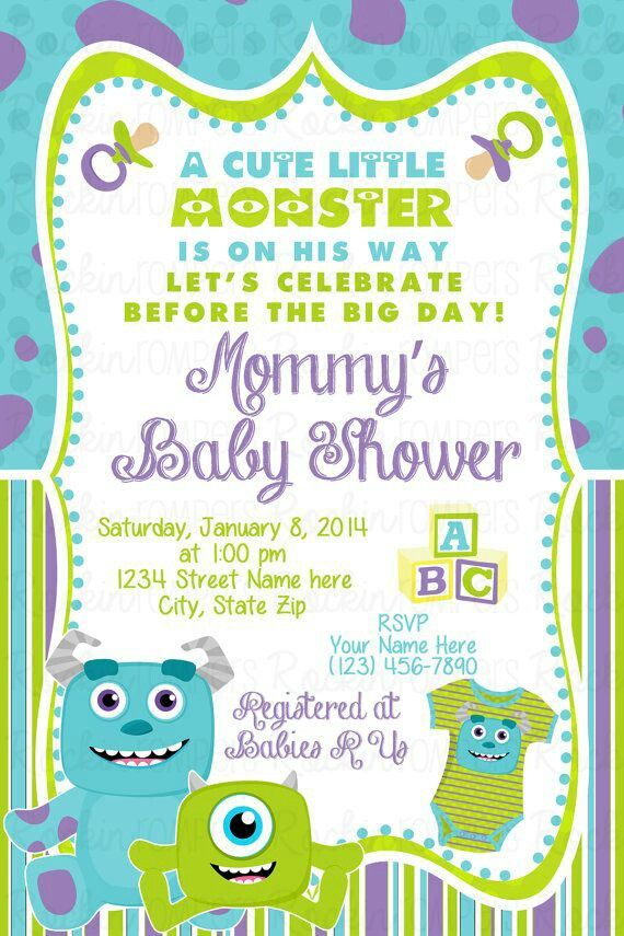 Monster inc baby shower