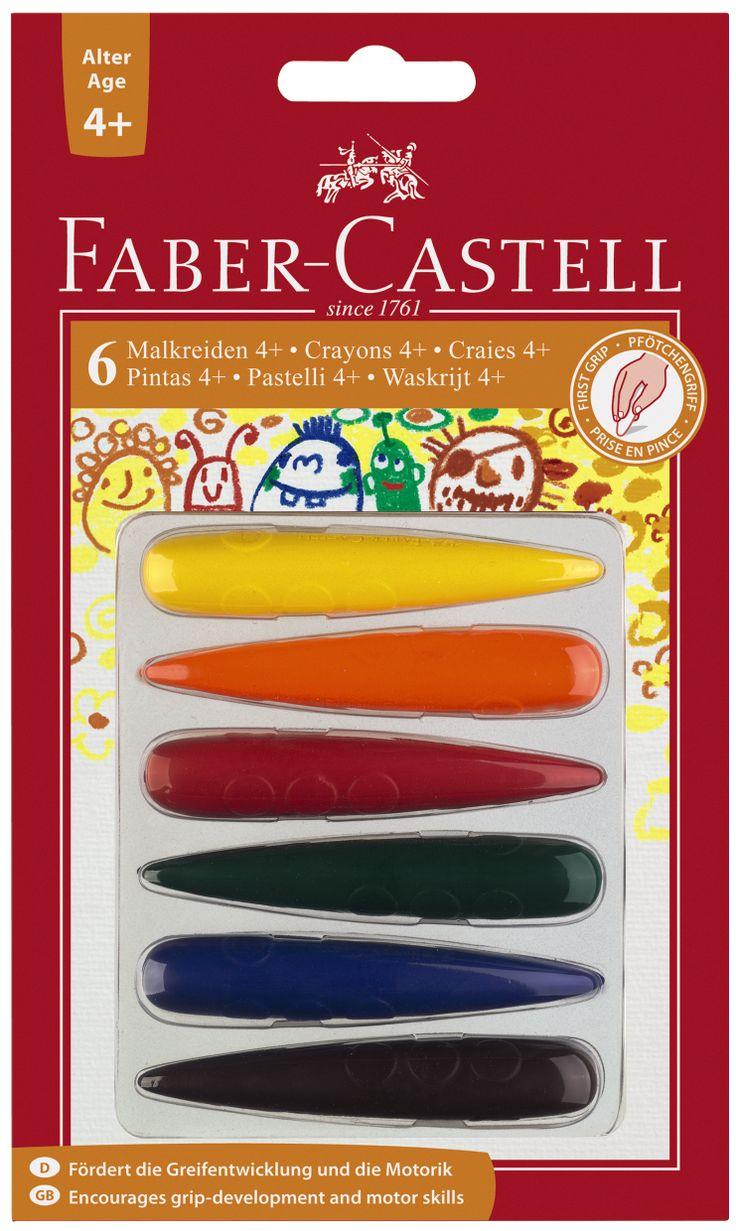 Kredki świecowe dla dzieci 4+ Faber Castell