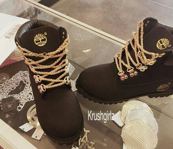 Black and gold timbs <3 love love love these wish i could own them like right now!!!