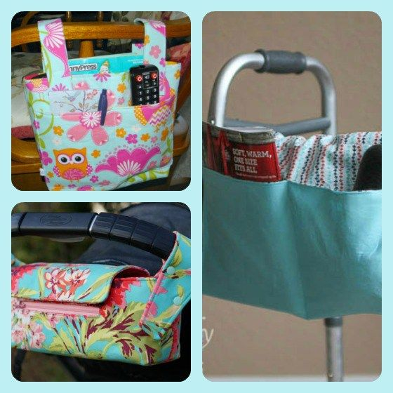 Walker or Wheelchair Mobility Caddies and Bags – Sewing Project Round-up