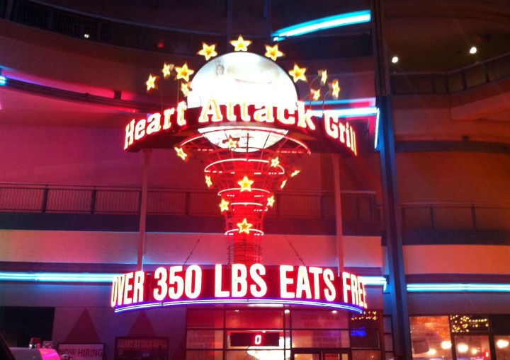 Award for the Most Outrageous Restaurant in Vegas : Heart Attack Grill! Awards we'd honour the Vegas tourist scene! #LASVEGAS #TRAVEL