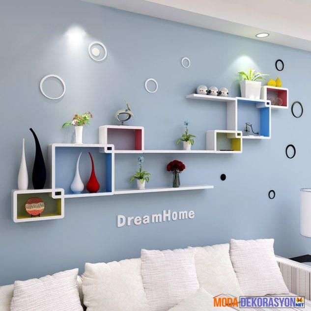 Duvar Dekorasyonuna Uygun Raf Modelleri | Moda Dekorasyon