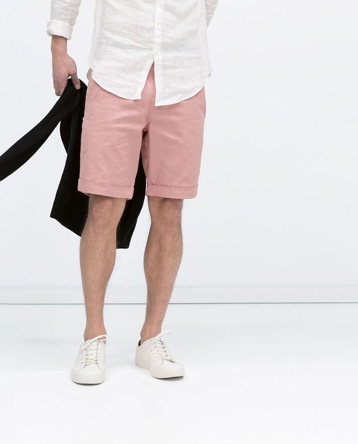 Bermuda básica algodón de Zara