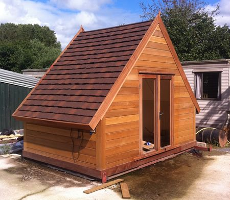 Micro cabin for luxury camping way cool bug out for Small luxury cabin