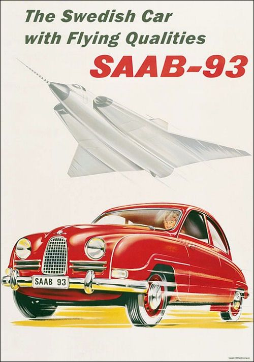 Saab GT 750 - Literature from the New York Automobile Show of 1958.