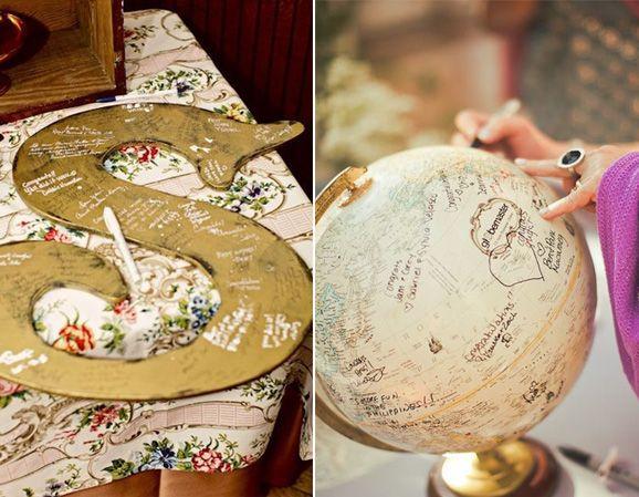 En lugar de un libro de firmas... podes optar por un objeto que te guste y que puedas exponer en tu casa!