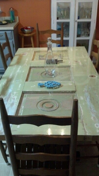 Old Door As Dining Table For The Home Door Table