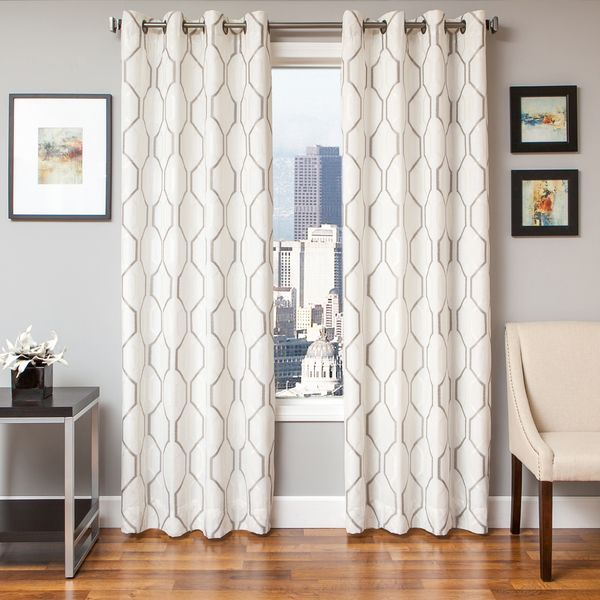 As Is reason: Various Reasons Option: 54X96 White Silver Immediately put a positive spin on your home decor with new window panels. This panel offers a contemporary and traditional look. This casual c