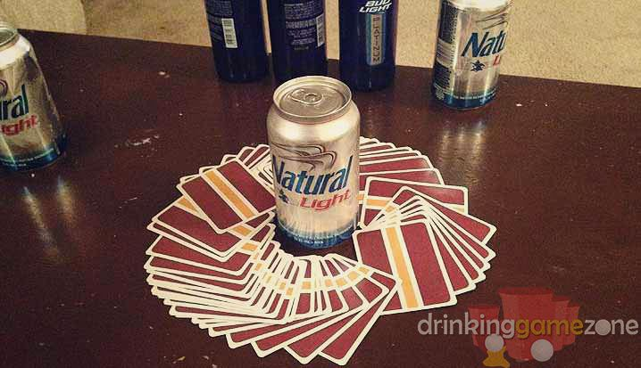Circle of death is a drinking game that closely resembles Kings, where players draw one card per turn and perform actions based on the card/color drawn.