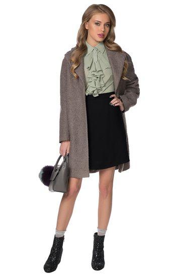 Шерстяная юбка-трапеция с боковыми клиньями Minimally / 2000000158037-1