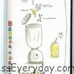 My First Sketch Recipe : Banana & Date Smoothie (Keeping it Simple) by Aggie Lim