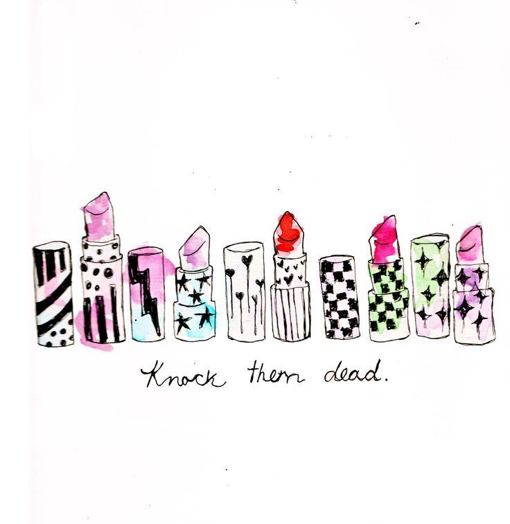 Knock them dead ... #art #lipstick #kysa