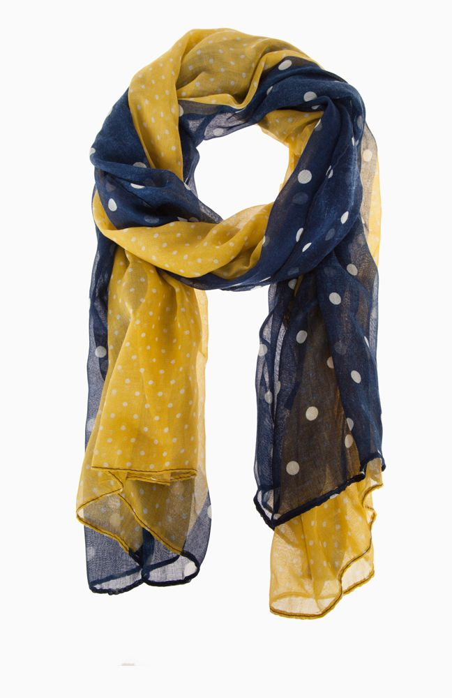 polka dot stripe scarf on dailylook