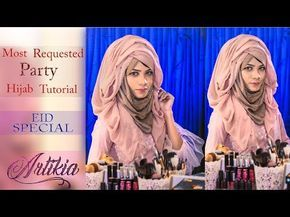 Exclusive Party Hijab Tutorial Easy Layered look with Kamij || Signature Hejab Style || Artikia - YouTube