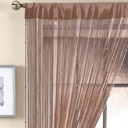 Brown Beaded String Curtain | Dunelm