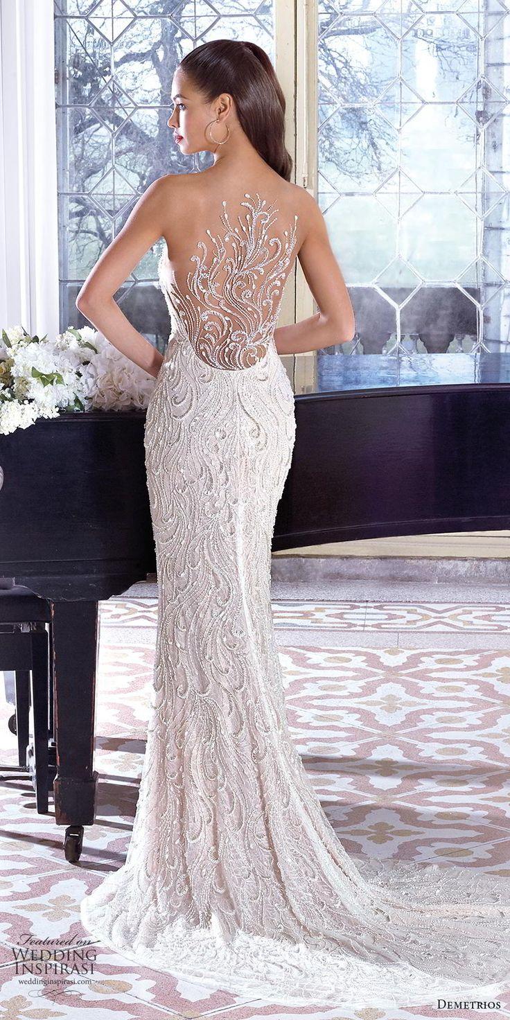 demetrios 2019 bridal strapless sweetheart neckline full embellishment elegant g…