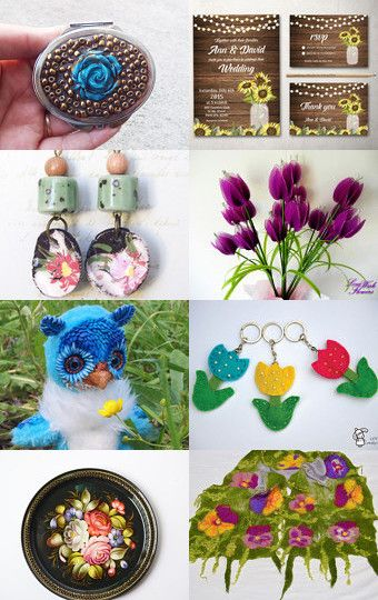 My owly was added to Flower Find September by Jelena on Etsy--Pinned with TreasuryPin.com