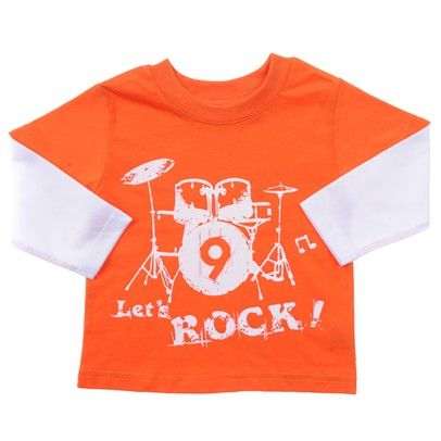 Orange with white sleeves and Lets Rock printed in white-BBLT011-Orange-White $7.00 on Ozsale.com.au