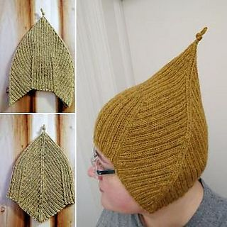 I like hats with ear flaps, but I don't like their typically inelegant construction of having to cast on (or off) different fiddly bits. Here, the ear flaps are created by the valleys of classic