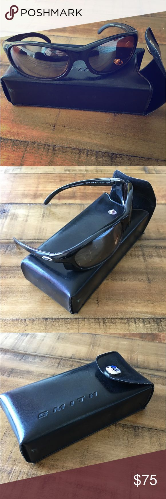 Smith Optics Maverick Sunglasses Gently worn, black frames with brown tinted/polarized lenses. Smith Optics Accessories Sunglasses