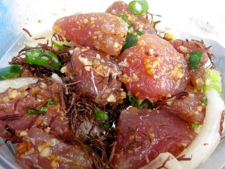 hawaiian poke | Hawaii's Ono Kine Grinds (Good Food) : NPR  With avocado...  Broke da mouth!