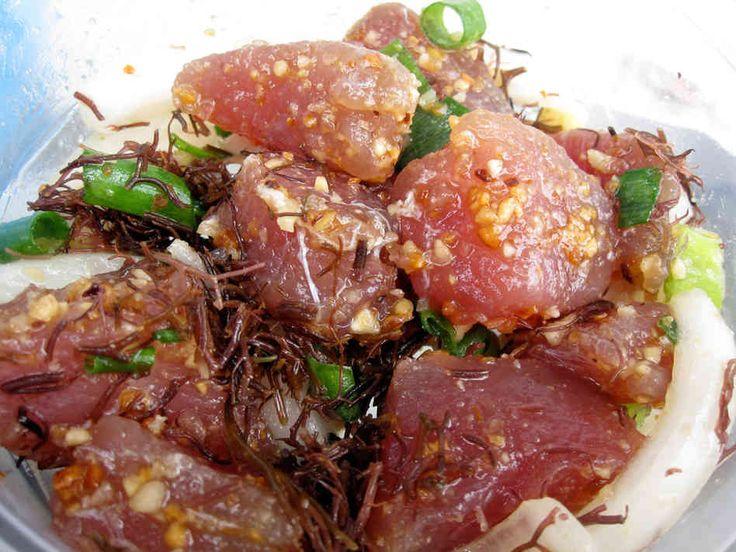 hawaiian poke | Hawaii's Ono Kine Grinds (Good Food) : NPR  With avocado...  Broke da mouth!