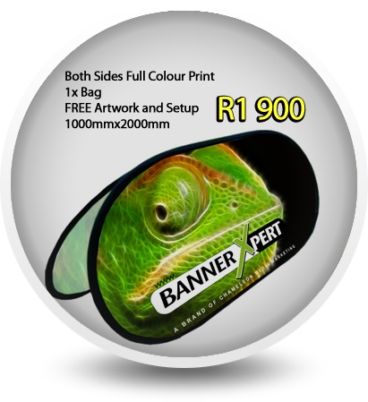 Make an impact with pop up displays and banners at your next exhibition or function. At Bannerxpert we design and print pop up banners and display units with unparalleled quality and service. We do delivery within Durban. Our lightweight pop up banners are ideal for all your exhibition, advertising and marketing needs, easy to display with no assembly required, you pop them out of the carry bag and you are ready to display.