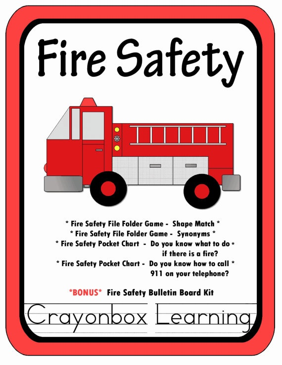 Fire Safety File Folder Games Activities By Crayonboxlearning My Crafty Ladies