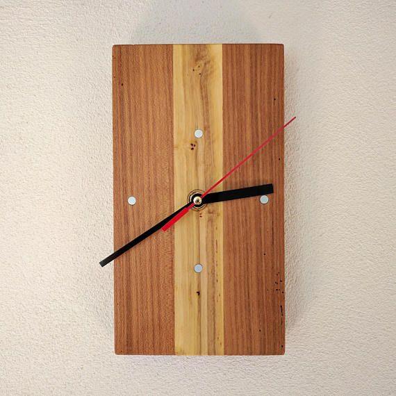 Modern Wooden Clock Rectangular Clock Wall Clock Desk