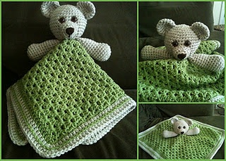 Crochet lovey/travel blanket
