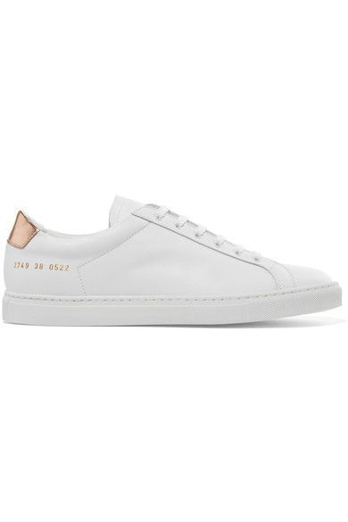 Common Projects - Retro Metallic-paneled Leather Sneakers - White - IT38