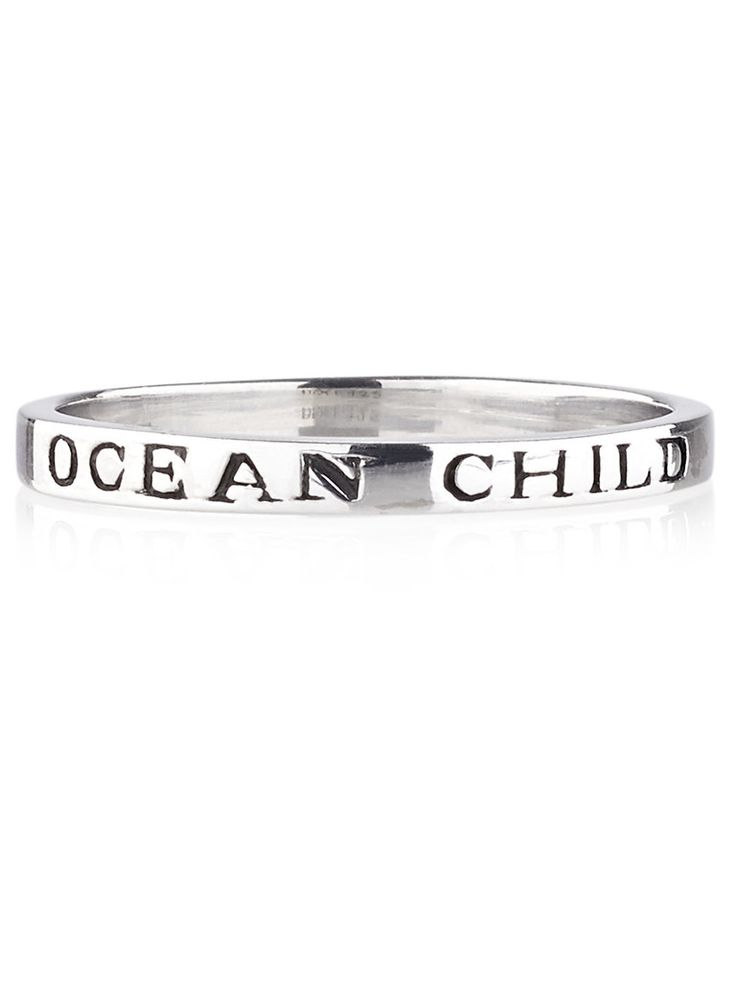 Ocean Child Ring in store now at www.shopdixi.com // boho // bohemian // hippie // gypsy // gypset // engraved // summer // natures beauty // beach // sterling silver