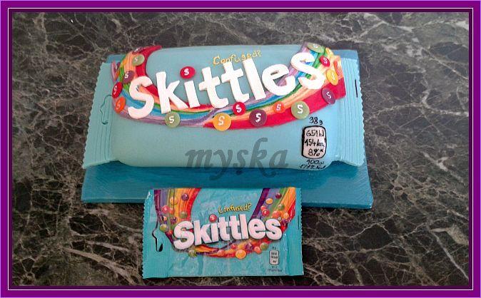 skittles s originál obalem čokokorpus, stračatela krém