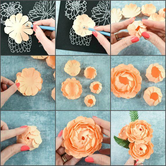 Paper Flowers Molding Mat Shaping Tool Set Flower Shaping Kit And