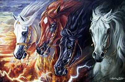 The Four Horse of the Apocalypse – Painting by American ...