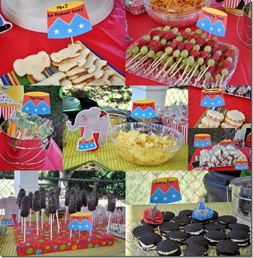 1000 images about circus snacks on pinterest send in the clowns clown nose and lion cupcakes - Carnival party menu ...