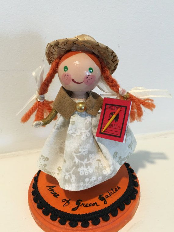 1121 best dolls clothespin more images on pinterest for Anne of green gables crafts