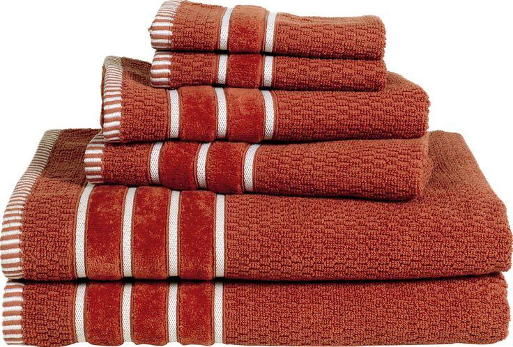 Delfino Rice Weave 6 Piece Towel Set