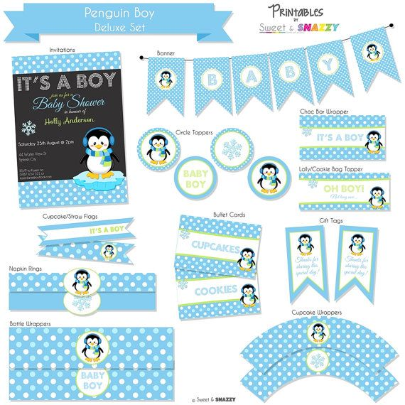 baby shower ideas boys penguin themed baby shower penguin shower baby