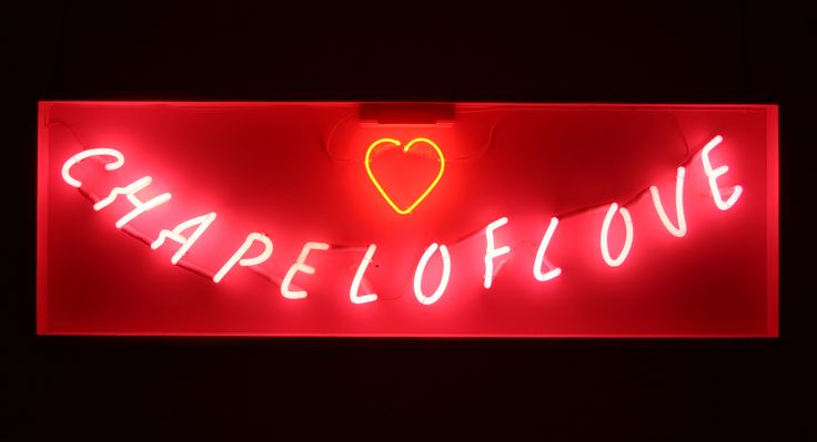 Chapel Of Love sign - 1500mm x 500mm - Mounting: Wooden (Pink) - £180 - To hire this sign, call 01799 598080, quoting ref: 051/C16/D